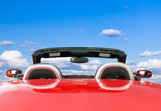 Red Car With Blue Sky Background Royalty Free Stock Photos