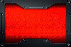 Carbon fiber and frame for background and texture royalty free illustration