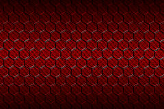 Red carbon fiber hexagon pattern. Background and texture. 3d illustration Stock Image