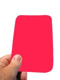 Red card. With the referee sending some one off Royalty Free Stock Images