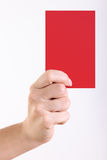 Red Card Stock Image