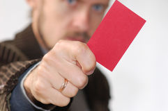 Red card Royalty Free Stock Photos