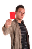Red card Royalty Free Stock Photo
