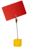 Red card. With metal clip Royalty Free Stock Image