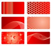 Red card backgrounds Royalty Free Stock Image