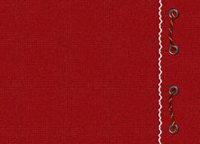 Red card with braid. The red background Royalty Free Stock Images