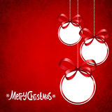 Red card for Christmas Stock Images