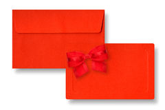 Red card and envelope. Royalty Free Stock Photos