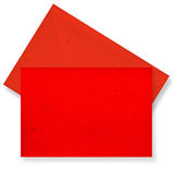 Red card and envelope. Stock Photos