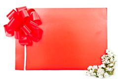 Red card with flowers Stock Image