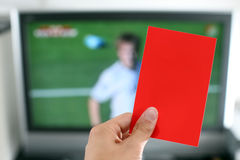 Red card football punishment Stock Image