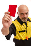 Red card!!... go out!! Royalty Free Stock Images