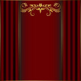 Red card with golden border. On certain background Stock Images