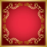 Red card with golden frame - vector Royalty Free Stock Image