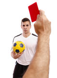 Red card! Stock Photos