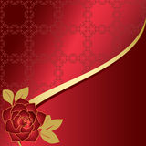 Red card with rose - vector Royalty Free Stock Photos