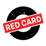 Red Card rubber stamp Royalty Free Stock Photos