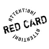 Red Card rubber stamp Royalty Free Stock Image