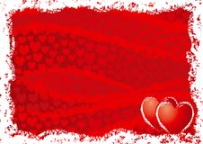 Red cards background for valentines day Royalty Free Stock Image