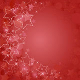 Red card  with  stars Stock Photo