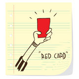 Red Card Royalty Free Stock Photography