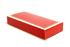 Red cardboard box Royalty Free Stock Photos