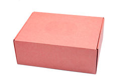 Red cardboard box. Isolated on white background Stock Photo