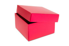Red cardboard box. Isolated on white background Royalty Free Stock Photo