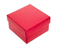 Red cardboard box. Isolated on white background Royalty Free Stock Images