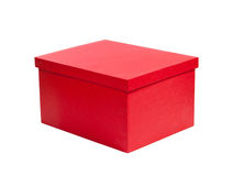 Red cardboard gift box Royalty Free Stock Photography