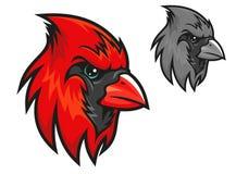 Red cardinal bird in cartoon style Stock Images