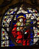 Red Cardinal Stained Glass Salamanca Cathedral Spain Royalty Free Stock Image