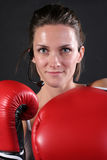 Red Cardio Gloves Royalty Free Stock Images