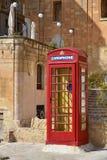 Red cardphone booth in Valletta, Malta Stock Image
