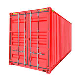 Red Cargo Container. Isoalted Stock Photo