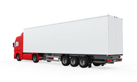 Red Cargo Delivery Truck Royalty Free Stock Images