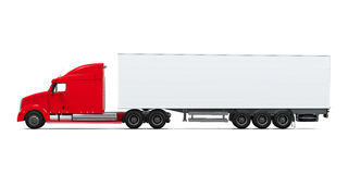Red Cargo Delivery Truck Royalty Free Stock Photos