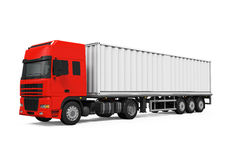 Red Cargo Delivery Truck Royalty Free Stock Image