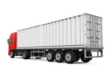 Red Cargo Delivery Truck Stock Image