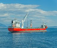 Red cargo ship Stock Photos