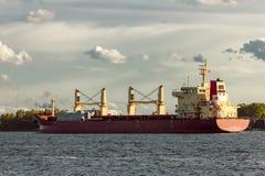 Red cargo ship Royalty Free Stock Photos