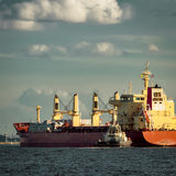 Red cargo ship Royalty Free Stock Image