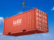 Red cargo shipping container Royalty Free Stock Photos