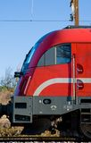 Red cargo train Royalty Free Stock Photography