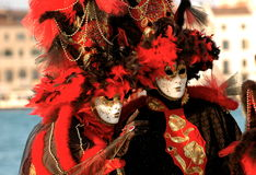 Red Carnaval. Venetian Carnaval is Magical, colorful and Unique stock photos
