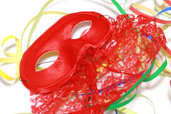 Red Carnival mask Royalty Free Stock Photo