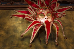 Red carnival mask Royalty Free Stock Images