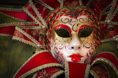 Red carnival mask Stock Photo