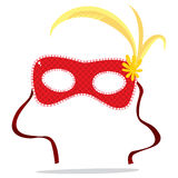 Red Carnival Mask Stock Images