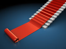 Red carped steps Stock Photography